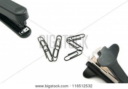 Staple Remover And Black Stapler