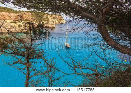 Cala Macarella at Menorca, Balearic Islands, Spain.