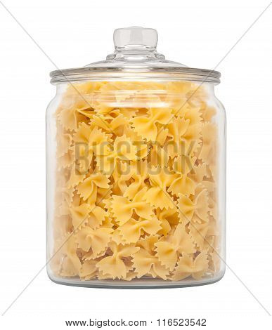 Farfalle Bow Tie Pasta In A Apothecary Jar