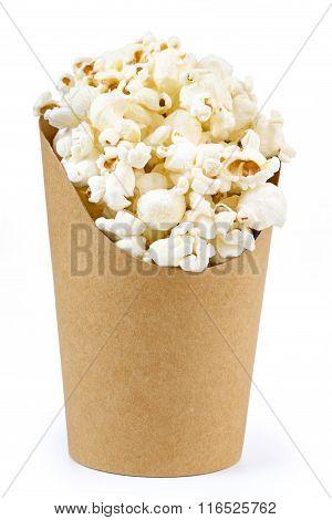 bucket full of popcorn