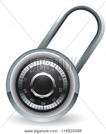 Code lock vector illustration
