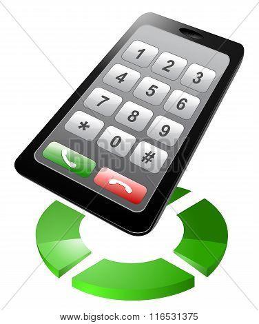 Smartphone dialer vector illustration