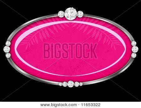 Pretty Jewelry Frame Pink