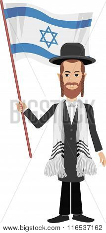 jew with flag