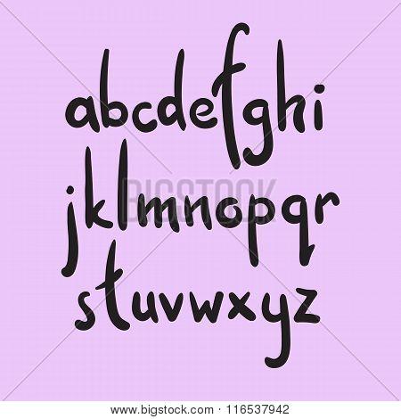 Brush Style Vector Alphabet