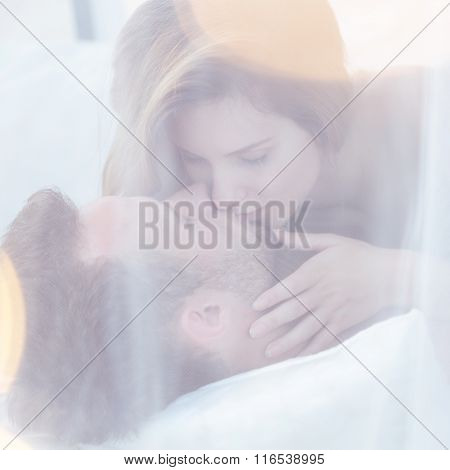 Couple Kissing In Sexual Position