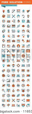 Thin line web icons for graphic design, website and app design and development, seo