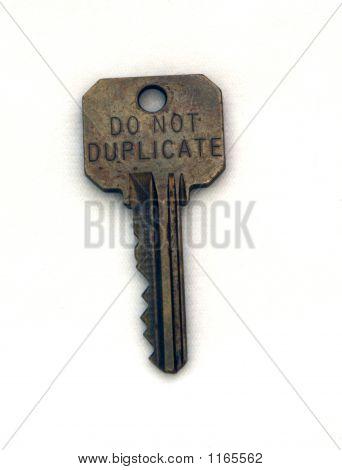 Do Not Duplicate Key