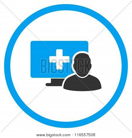 Online Medicine Rounded Icon