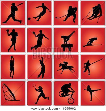 sport icon set - vectir