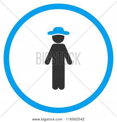 Standing Boy Circled Icon