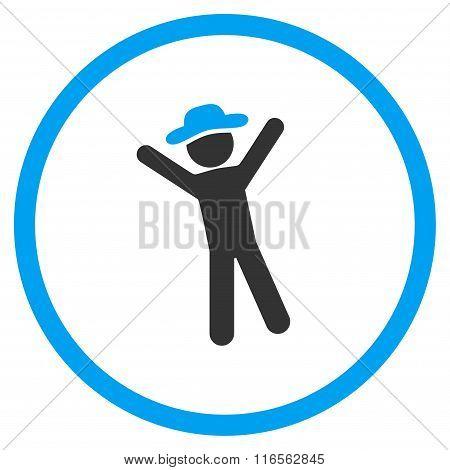 Male Joy Circled Icon