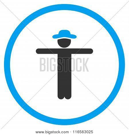 Boy Scarescrow Circled Icon