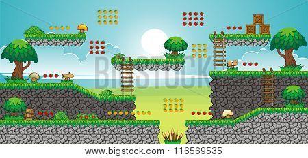 Tile Set Platform For Game 8.eps