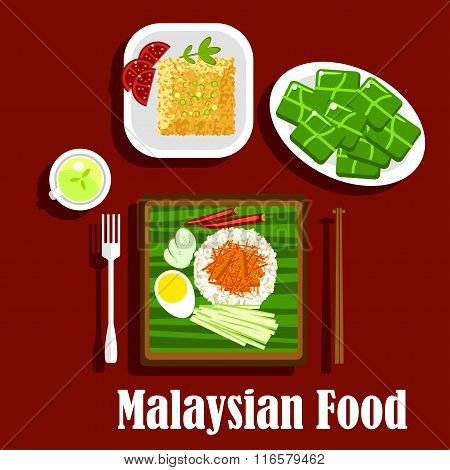 Popular rice dishes of malaysian cuisine