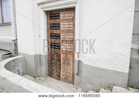 Ancient Door Of A Commercial Building