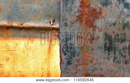 wheathered rust and scratched steel texture