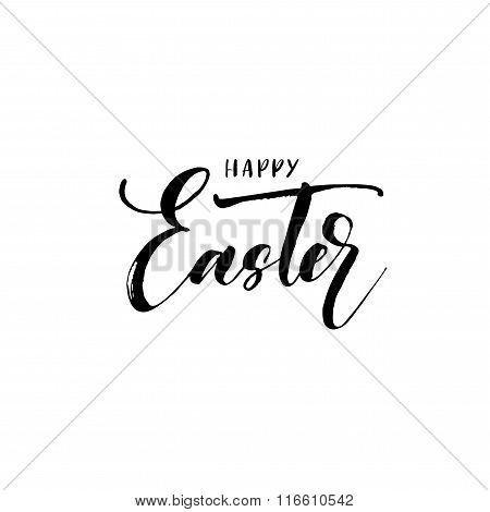 Happy Easter Lettering Phrase.