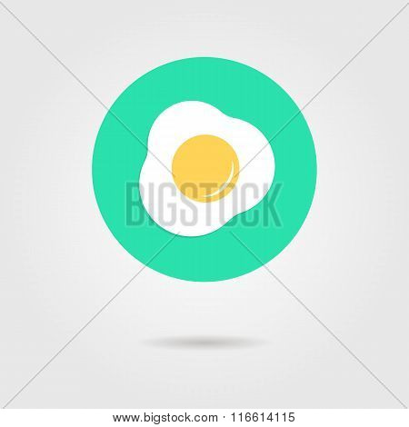 green scrambled eggs icon with shadow