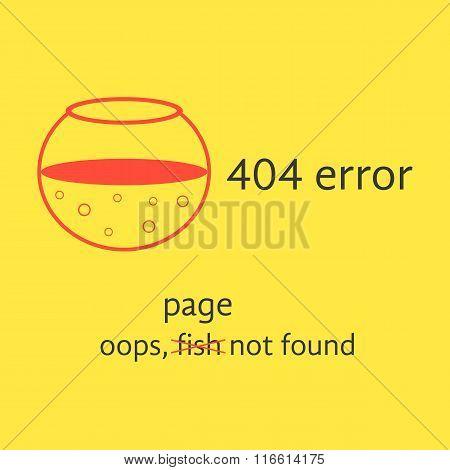 404 error with red empty aquarium