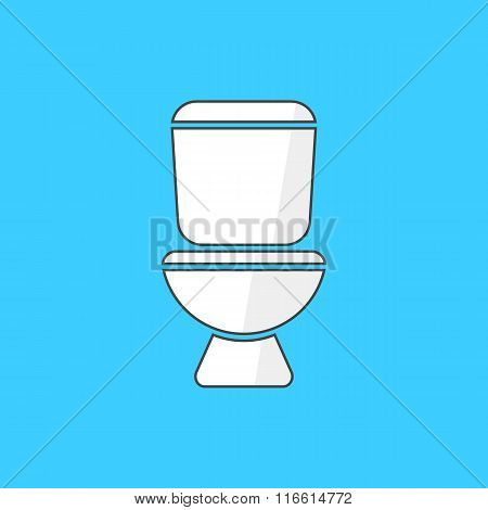 simple white toilet icon