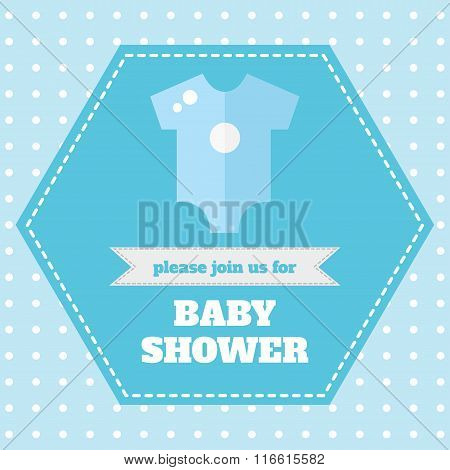 Baby card design template.