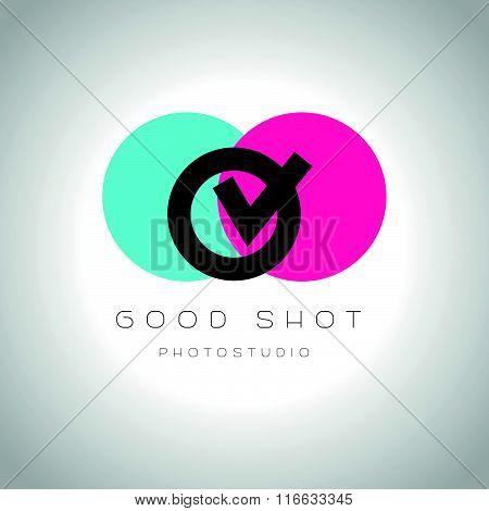 Digital photo logothype design.