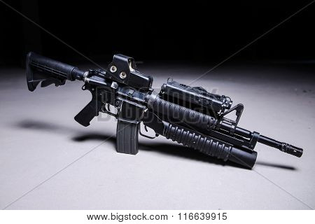 Automatic Rifle With Grenade Launcher