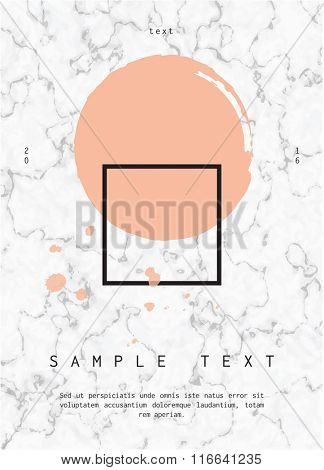 Geometric design for poster, brochure or business card