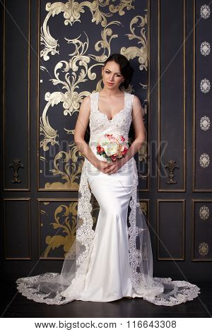 Bride In A Beautiful White Dress