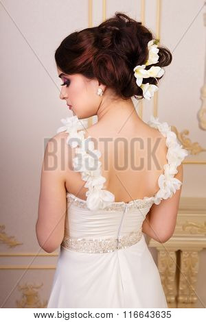 Bridal Hairstyle With Accessories From The Back