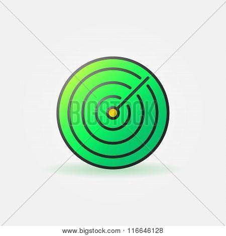 Green sonar icon or logo
