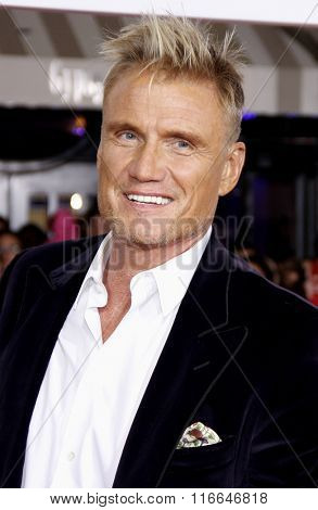 Dolph Lundgren at the World premiere of 'Hail, Caesar!' held at the Regency Village Theatre in Westwood, USA on February 1, 2016.