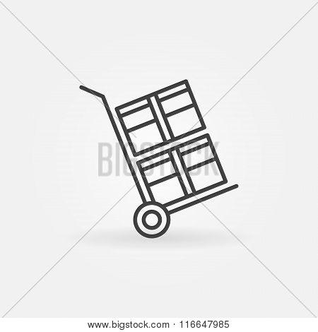 Handcart linear icon