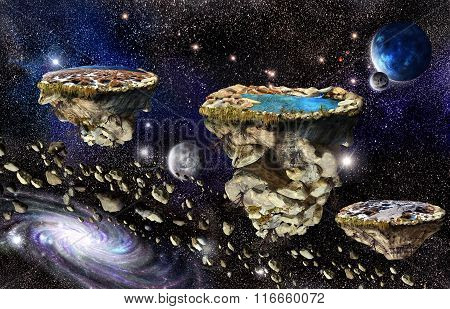 Islands In Universe Space