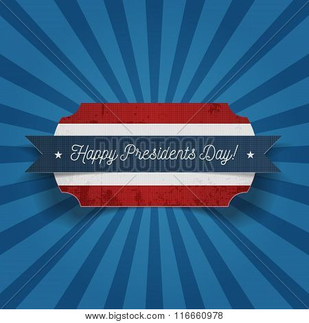 Happy Presidents Day greeting Card Template