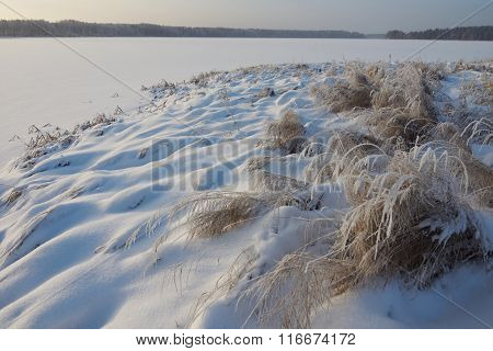 Winter Hillocks On The Foreground