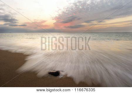 Ocean Sunset Beach Waves