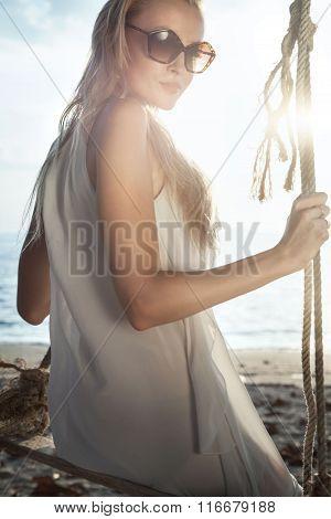 Girl On The Thailand Beach.
