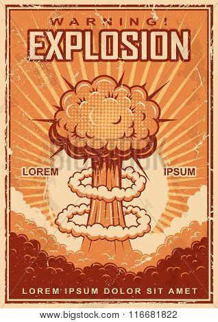 Vintage explosion poster
