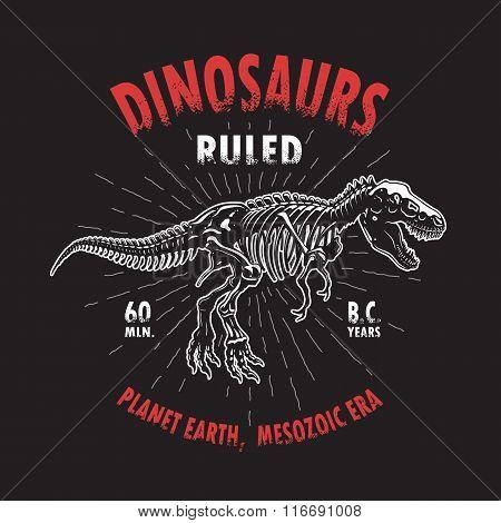 Dinosaur t-shirt print