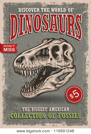 Vintage dinosaurs poster