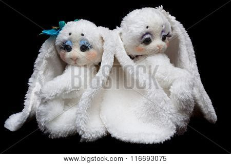 Couple Sewn Rabbits
