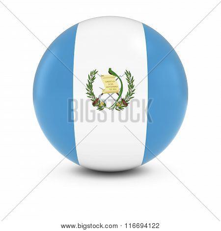 Guatemalan Flag Ball - Flag Of Guatemala On Isolated Sphere