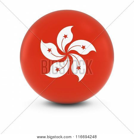 Hong Kongese Flag Ball - Flag Of Hong Kong On Isolated Sphere