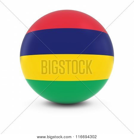 Mauritian Flag Ball - Flag Of Mauritius On Isolated Sphere