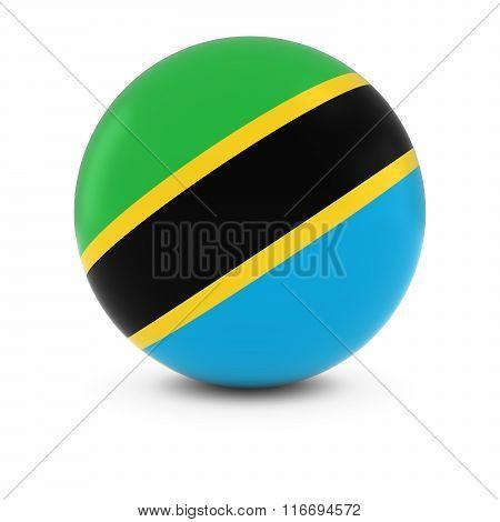 Tanzanian Flag Ball - Flag Of Tanzania On Isolated Sphere