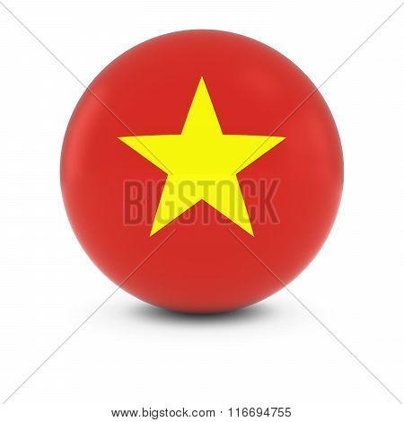 Vietnamese Flag Ball - Flag Of Vietnam On Isolated Sphere