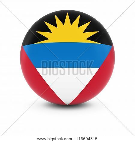 Antiguan And Barbudan Flag Ball - Flag Of Antigua And Barbuda On Isolated Sphere