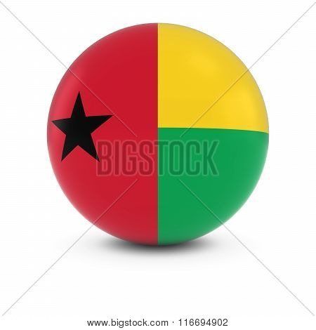 Bissau-guinean Flag Ball - Flag Of Guinea-bissau On Isolated Sphere